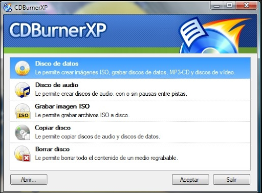 Descargar CDBurnerXP gratis
