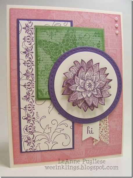 LeAnne Pugliese WeeInklings Paper Players 193 Creative Elements Stampin Up