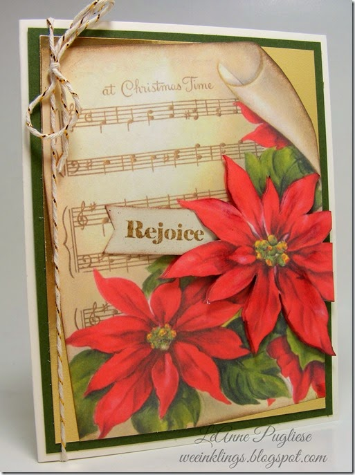 LeAnne Pugliese WeeInklings Merry Monday 109 Crafty Secrets Christmas Card