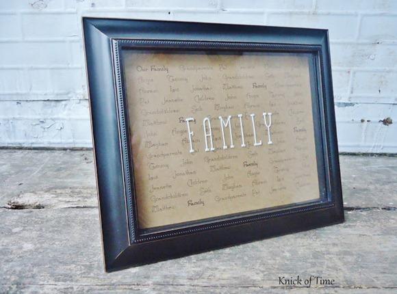 Family Names Framed Print