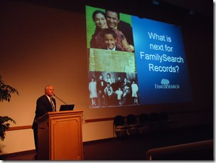 Rod DeGiulio addresses the BYU Conference on Family History and Genealogy