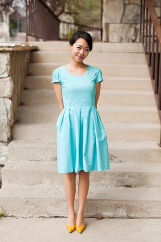 37 blue dress