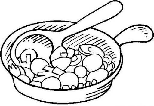 ... Page Frying Pan Coloring Pages on a saucepan with lid coloring page