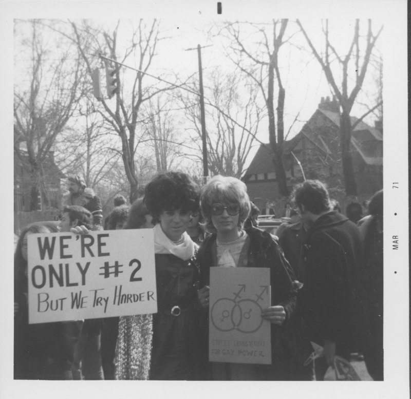 Student gay activists protest at the University at Albany, New York. March 1971.