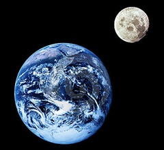 luna tierra
