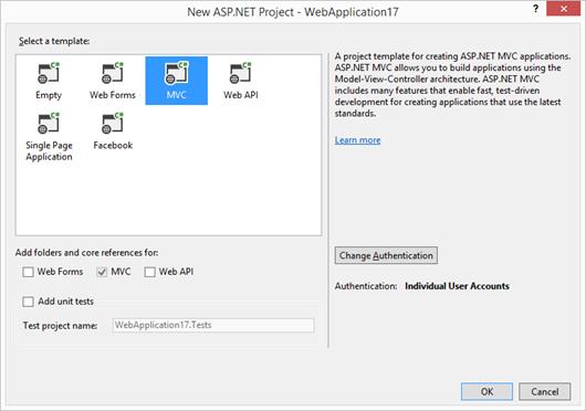 Configuración de proyecto ASP.NET