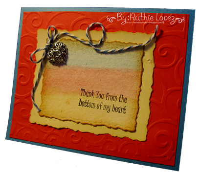 Inky Impressions - Thank You Rubber Stamp Sentiment - Tutorial - Ruthie Lopez