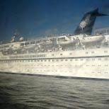 cruise ship in the noordzeekanaal in Amsterdam, Noord Holland, Netherlands
