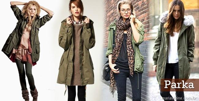 parka modelos femininos casacos inverno
