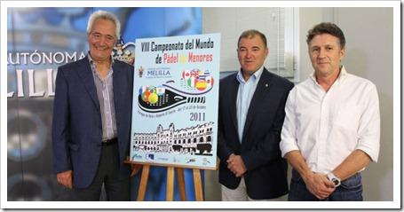 presentacion Campeonato Mundial de Menores de Pádel 2011 Melilla