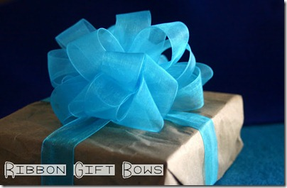 1 - Ribbon Gift Bows DIY tutorial
