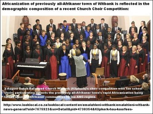 WitbankAfricanizationChurchChoirAug22013NGchurch