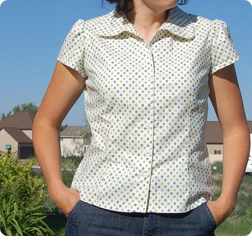 simplicity blouse 4077 dots