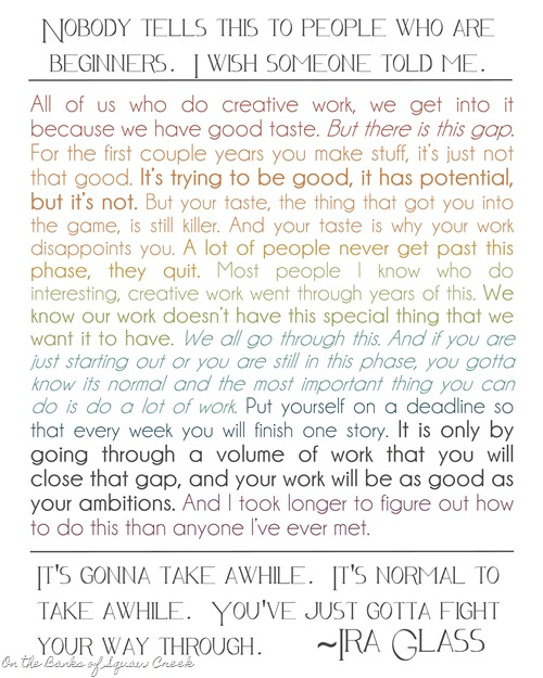 Ira Glass Creative Quote
