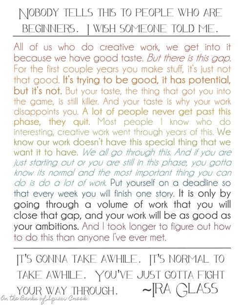 Ira Glass Creative Quote