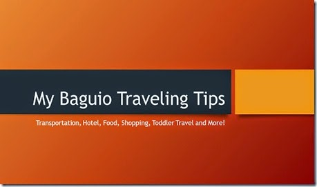 My Baguio Traveling Tips
