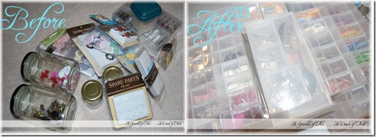 Scrapbook Embellishment Storage Before and After A Sprinkle of This. . . . A Dash of That}
