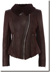 Karen Millen Coated Sheepskin Jacket