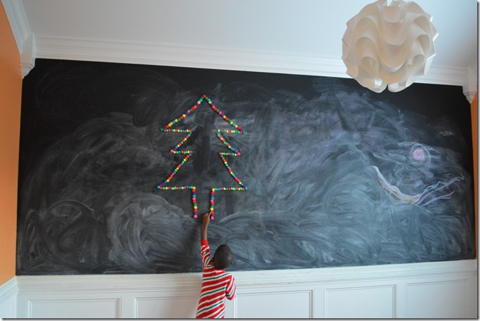 Alternative DIY Pom Pom Christmas Tree