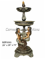 Two Mermaid Raising Bowl Fountain