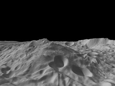montanha do asteroide Vesta