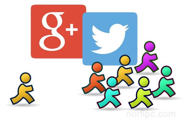 Seguimos a todos en Twitter y Google Plus