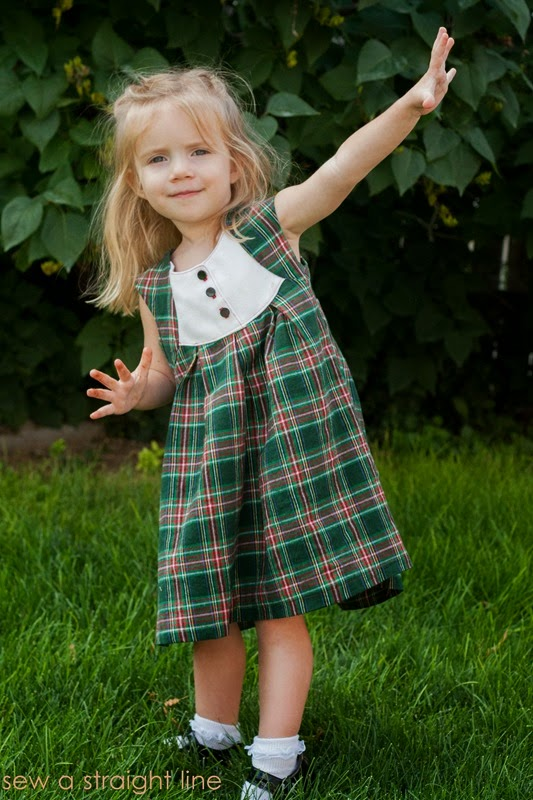 plaid fawn lilly dress Sew a Staight Line-7