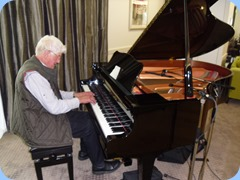 Bennie soloing on the Yamaha Grand Piano