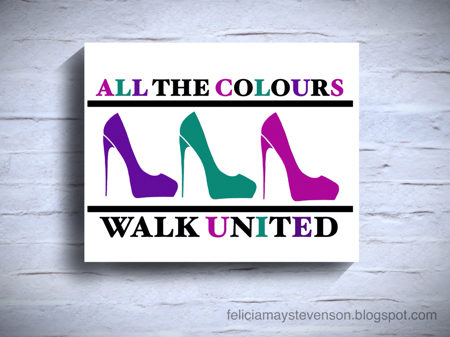 All the colours walk United shoe art by felicianation on store envy