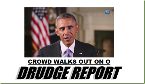 drudge crowds walk out