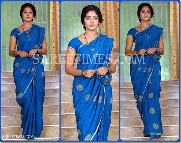Anushka_Blue_Saree