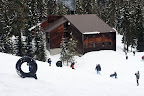 The lodge features a tubing hill just outside.