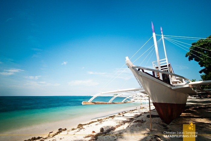 White Sandy Shore at Malapascua's Bounty Beach