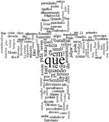 Palavras em forma de cruz (imagem gerada em http://wordlin.gs)