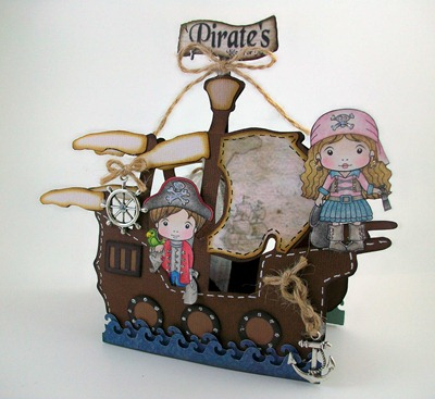 Pirate's Ship Birthday Card2