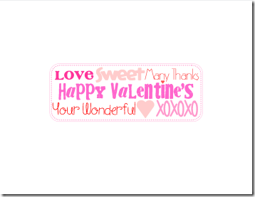 Printable Valentine's Candy Bar Wrapper