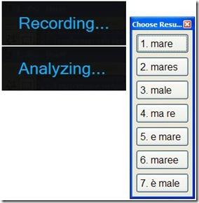 Capture2Text scegliere parola rilevata dal microfono