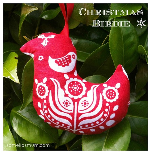 Christmas Birdie Ornament 4