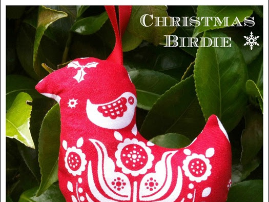 Christmas Birdie Ornament {Tutorial}