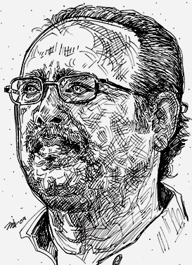Gnanakoothan Drawing by jk  (jayakumar)