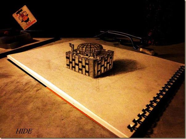 Incroyables dessins au crayon en 3D par Nagai Hideyuki-005