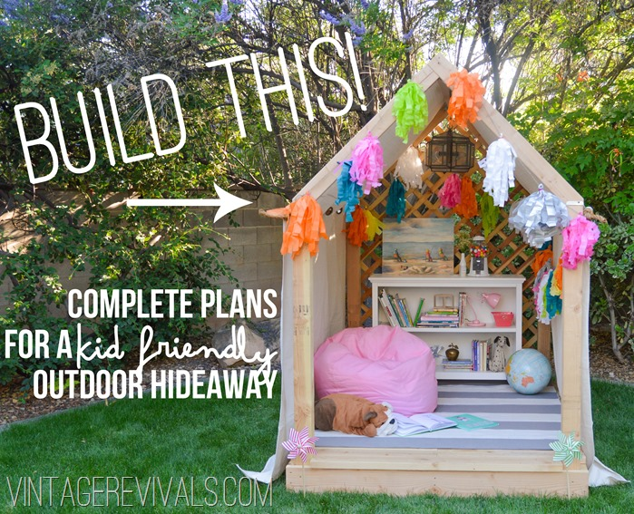 Summer Reading Nook Outdoor Hideaway Building Plans vintagerevivals.com