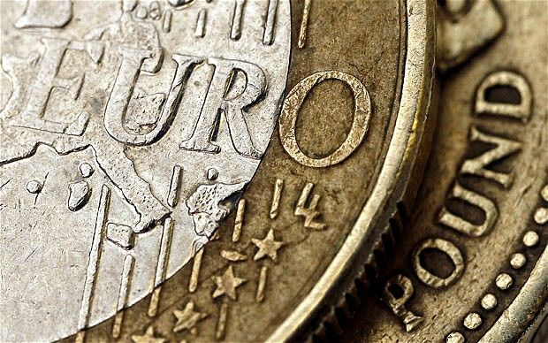 Euro coin. The U.K. Treasury confirmed earlier this month that contingency planning for a collapse is now under way. BLOOMBERG