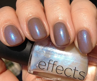 CND Effects Ice Blue Shimmer over Layla Gel Effects Beige Revolution (4)