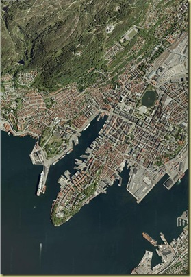 Bergen from space