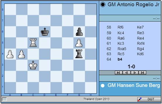 Rd 7 game - Hansen vs Antonio