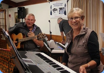 Jan and Kevin Johnston playing acoustic guitar and Korg Pa1X. Photo courtesy of Dennis Lyons
