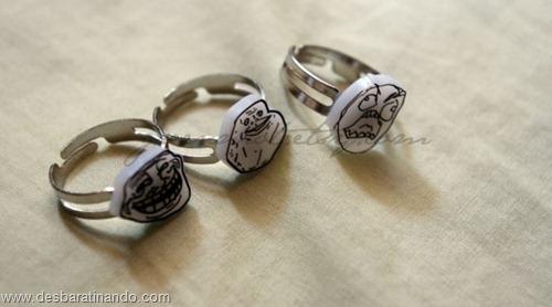 brincos aneis geeks nerds nerd geek brinco anel ring desbaratinando (23)