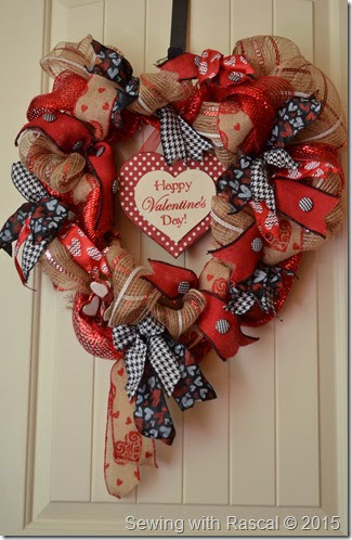 Valentine Day Ribbon Wreath