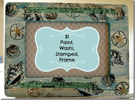 Paint Washi Stamped Frame